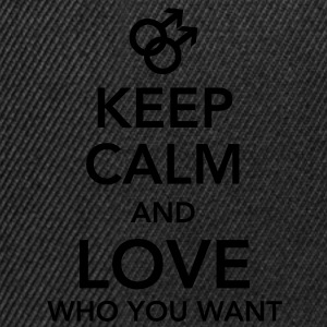 keep calm and love who you want - gay T-shirts - Snapbackkeps