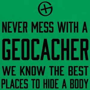 Never Mess With a Geocacher... T-Shirts - Retro Bag