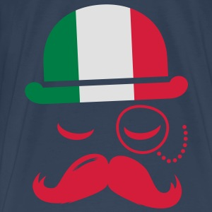 Italy fashionable retro iconic gentleman with flag and Moustache | sports | olympics | football Tops - Men's Premium T-Shirt