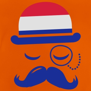 Holland fashionable retro iconic gentleman with flag sports | olympics | football | Championship | Moustache |  Kids' Shirts - Baby T-Shirt