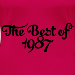 Geburtstag - Birthday - the best of 1987 (dk) Toppe - Dame premium T-shirt