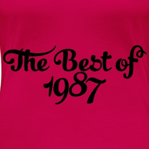 Geburtstag - Birthday - the best of 1987 (sv) Toppar - Premium-T-shirt dam