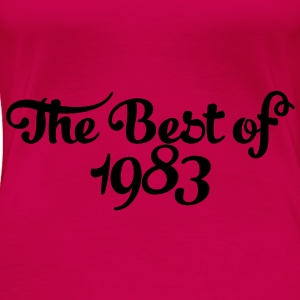 Geburtstag - Birthday - the best of 1983 (sv) Toppar - Premium-T-shirt dam