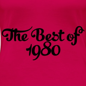 Geburtstag - Birthday - the best of 1980 (sv) Toppar - Premium-T-shirt dam