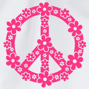 PEACE SYMBOL - symbool van de vrede, c, symbol of freedom, flower power, hippie, 68er movement, Woodstock Tops - Gymtas