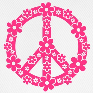 PEACE SYMBOL - peace sign, c, symbol of freedom, flower power, hippie, 68er movement, Woodstock Topy - Czapka z daszkiem