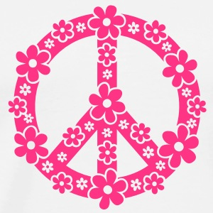 PEACE SYMBOL - symbool van de vrede, c, symbol of freedom, flower power, hippie, 68er movement, Woodstock Tops - Mannen Premium T-shirt