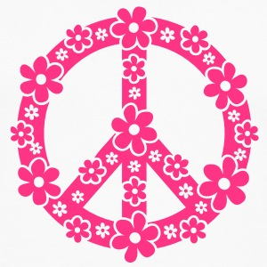 PEACE SYMBOL - simbolo di pace, c, symbol of freedom, flower power, hippie, 68er movement, Woodstock Top - Maglietta Premium a manica lunga da uomo