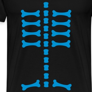 skeleton / rips  / bones / Body / human / SVG / can be combined with arm bones/ T-shirts - Premium-T-shirt herr