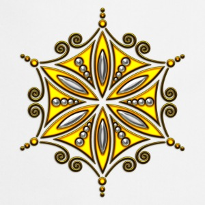 Flower of Aphrodite, gold, Symbol of  love, beauty and transformation, Power Symbol, Talisman Tops - Delantal de cocina