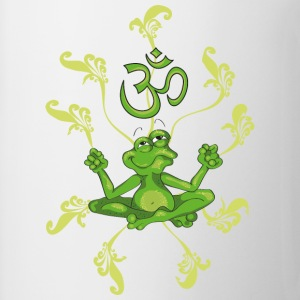 The frog sings the OM at his Yoga-Lesson Toppar - Mugg