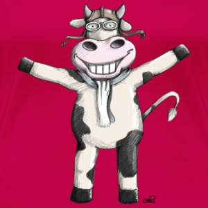 Flying Cow Toppe - Dame premium T-shirt
