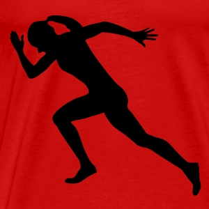 sprinter, runner, running - Men's Premium T-Shirt