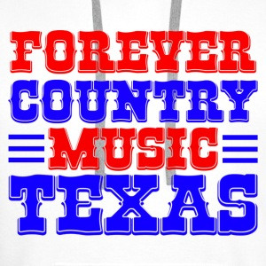 forever country music texas Tops - Männer Premium Hoodie
