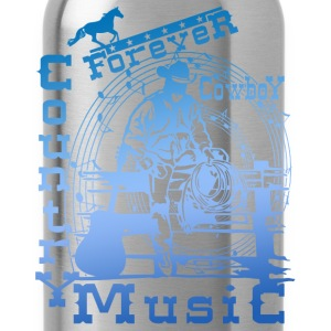 forever cowboy country music Tops - Water Bottle