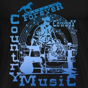 forever cowboy country music Tops - Men's Premium T-Shirt