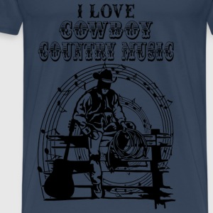 i love cowboy country music Tops - Men's Premium T-Shirt