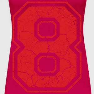 8_eight_acht_red_rot (uk) Tops - Women's Premium T-Shirt