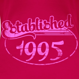 established 1995 dd (es) Tops - Camiseta premium mujer