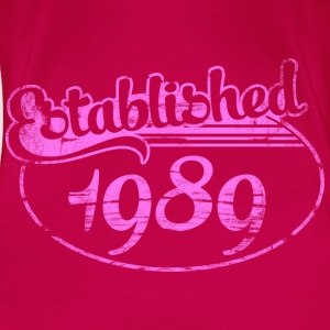 established 1989 dd (nl) Tops - Vrouwen Premium T-shirt