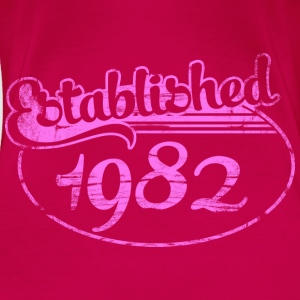 established 1982 dd (es) Tops - Camiseta premium mujer