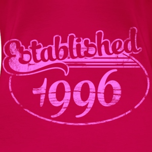 established 1996 dd (es) Tops - Camiseta premium mujer