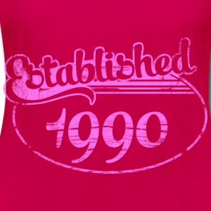 established 1990 dd (es) Tops - Camiseta de manga larga premium mujer