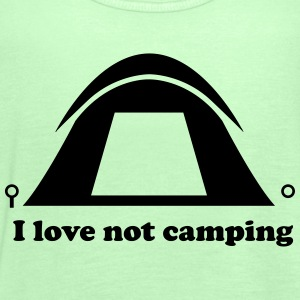 I Love Not Camping T-Shirts - Women's Tank Top by Bella