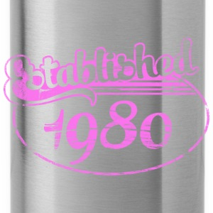 Geburtstag - established 1980 dd (de) Tops - Trinkflasche