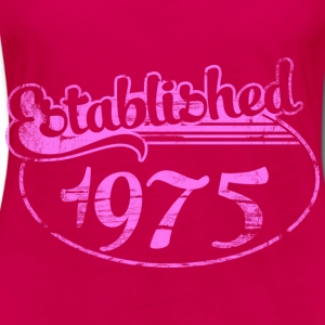 established 1975 dd (es) Tops - Camiseta de manga larga premium mujer