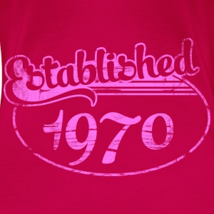 established 1970 dd (es) Tops - Camiseta premium mujer