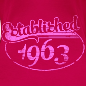 established 1963 dd (es) Tops - Camiseta premium mujer