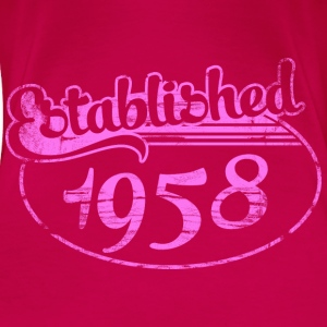 established 1958 dd (es) Tops - Camiseta premium mujer