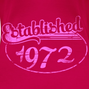 established 1972 dd (es) Tops - Camiseta premium mujer