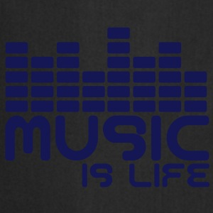 Music is life with equaliser  Topy - Fartuch kuchenny