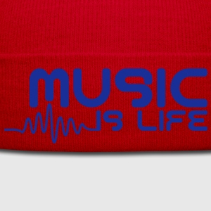 Music is life with pulse Tops - Winter Hat