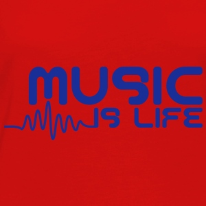 Music is life with pulse Tops - Women's Premium Longsleeve Shirt