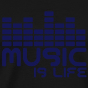 Music is life with equaliser  T-Shirts - Men's Premium T-Shirt