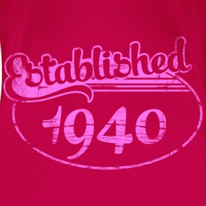 Geburtstag - established 1940 dd (de) Tops - Frauen Premium T-Shirt