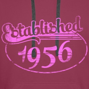 established 1956 dd (es) Tops - Sudadera con capucha premium para hombre