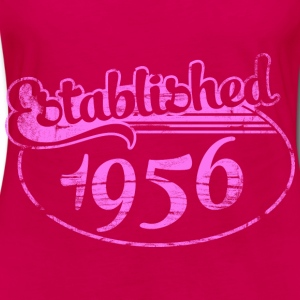 established 1956 dd (es) Tops - Camiseta de manga larga premium mujer