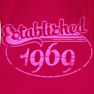 established 1969 dd (es) Tops - Camiseta premium mujer