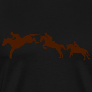 equitation cavalier2 cheval obstacle sau Tee shirts - T-shirt Premium Homme