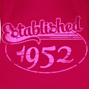 established 1952 dd (es) Tops - Camiseta premium mujer