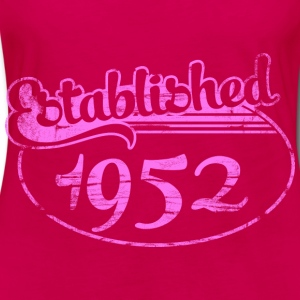 established 1952 dd (es) Tops - Camiseta de manga larga premium mujer