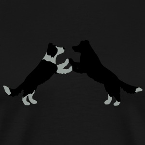 dog dancing Border Collies  T-shirts - Premium-T-shirt herr