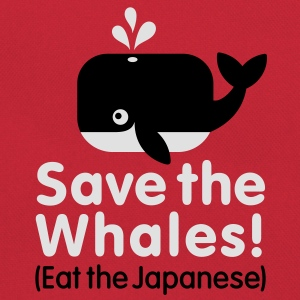 Save the Whales! Eat the Japanese Tee shirts - Sac Retro
