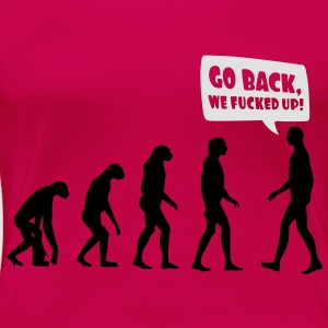 Evolution fucked up Toppar - Premium-T-shirt dam