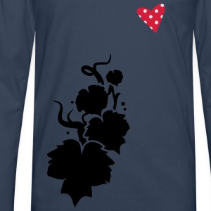 a vine in silhouette Tops - Men's Premium Longsleeve Shirt