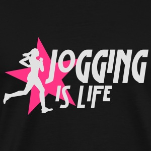 jogging is life female with star i 2c Toppe - Herre premium T-shirt